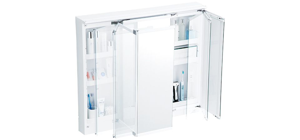 TOTO洗面化粧台【オクターブ】三面鏡写真