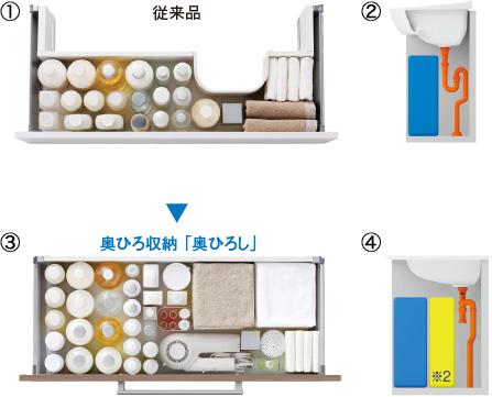TOTO洗面化粧台【オクターブ】奥ひろし写真