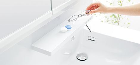 TOTO洗面化粧台【オクターブ】スマート棚写真