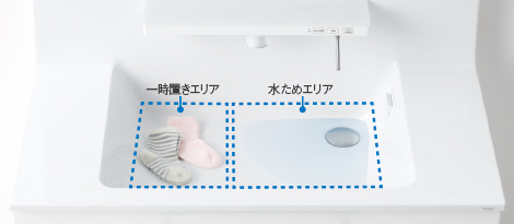 TOTO洗面化粧台【オクターブ】クリーン樹脂写真